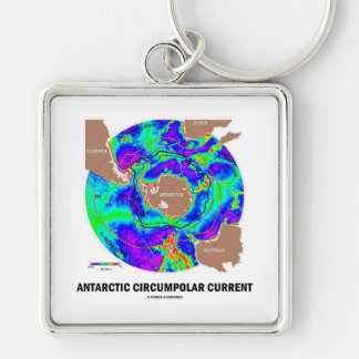 Antarctic Circumpolar Current (Ocean Current Map) Keychain