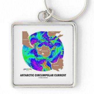 Antarctic Circumpolar Current (Ocean Current Map) Key Chains