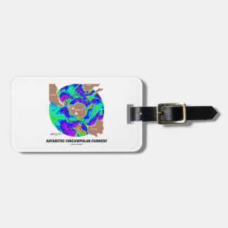 Antarctic Circumpolar Current (Ocean Current Map) Luggage Tag