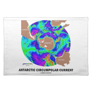 Antarctic Circumpolar Current (Ocean Current Map) Placemat