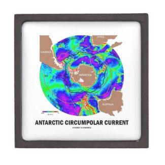 Antarctic Circumpolar Current (Ocean Current Map) Premium Keepsake Box