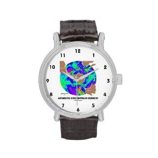 Antarctic Circumpolar Current (Ocean Current Map) Wristwatch