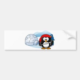 Antarctic Pitate Penguin Car Bumper Sticker