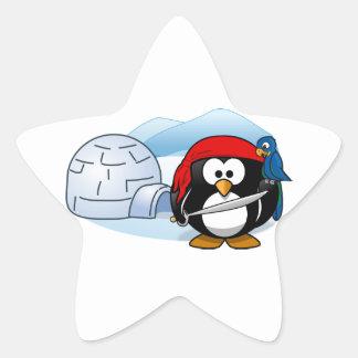 Antarctic Pitate Penguin Star Sticker