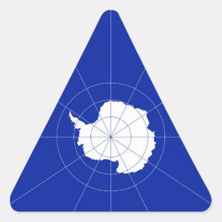 Antarctic Treaty Flag. Antarctica Triangle Sticker