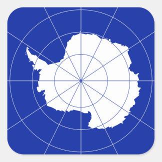 Antarctic Treaty Flag. Antarctica Square Sticker