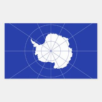 Antarctic Treaty Flag. Antarctica Rectangular Sticker