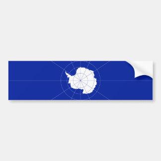 Antarctic Treaty Flag Bumper Sticker. Antarctica Car Bumper Sticker