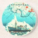 Antarctica 1956 drink coasters
