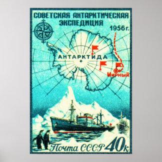 Antarctica 1956 print