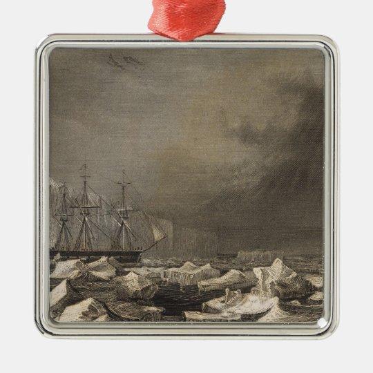 Antarctica 3 metal ornament
