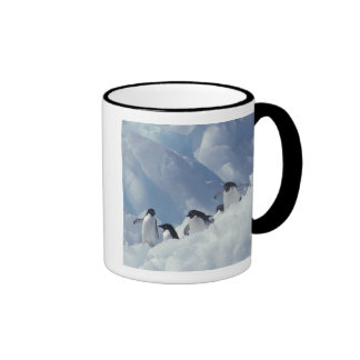 Antarctica. Adelie penguins Ringer Mug