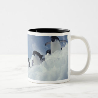 Antarctica. Adelie penguins Two-Tone Coffee Mug