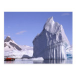 Antarctica, Antarctic Peninsula. Zodiak and Post Cards
