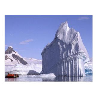 Antarctica, Antarctic Peninsula. Zodiak and Postcard