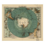 Antarctica Antique Atlas Map of 1912 Print