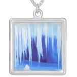 Antarctica, Australian Antarctic Territory. 2 Square Pendant Necklace