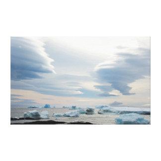 Antarctica. Brown Bluff. Lenticular clouds Canvas Print