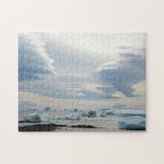 Antarctica. Brown Bluff. Lenticular clouds Jigsaw Puzzle