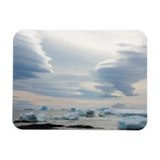 Antarctica. Brown Bluff. Lenticular clouds Magnet