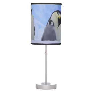 Antarctica. Emperor penguins and chick Table Lamp