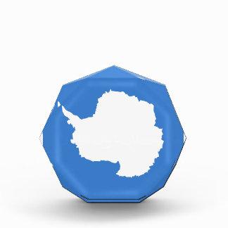 Antarctica Flag Acrylic Octagon Award