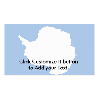Antarctica flag Double-Sided standard business cards (Pack of 100)