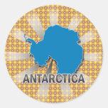 Antarctica Flag Map 2.0 Round Sticker