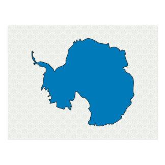 Antarctica Flag Map full size Postcard