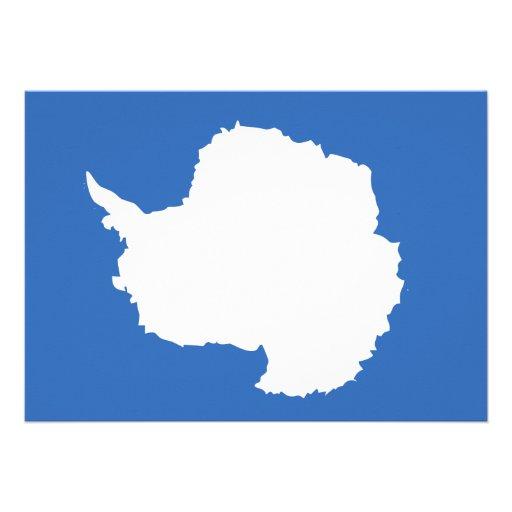 Antarctica Flag Personalized Announcements