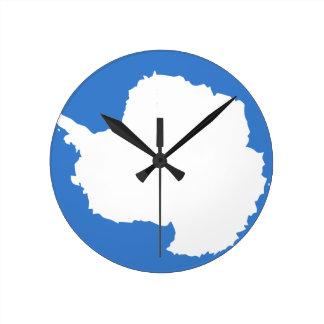 Antarctica Flag Round Wallclocks