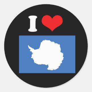 Antarctica Flag Round Sticker