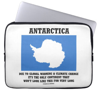 Antarctica Global Warming Climate Change Continent Computer Sleeve