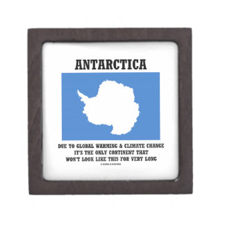 Antarctica Global Warming Climate Change Continent Jewelry Box