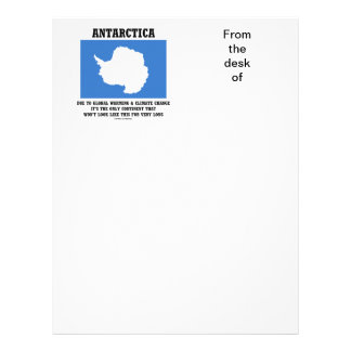 Antarctica Global Warming Climate Change Continent Letterhead