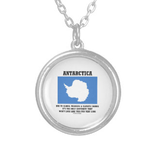 Antarctica Global Warming Climate Change Continent Round Pendant Necklace