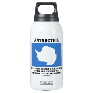 Antarctica Global Warming Climate Change Continent 10 Oz Insulated SIGG Thermos Water Bottle