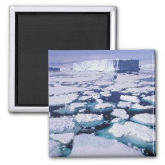 Antarctica, Ice flow. 2 Inch Square Magnet
