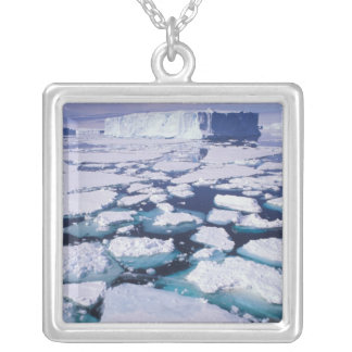 Antarctica, Ice flow. Silver Plated Necklace