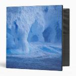 Antarctica. Iceberg with breaking waves 3 Ring Binder