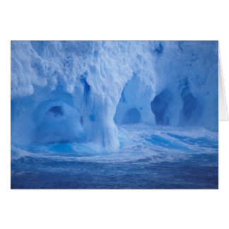 Antarctica. Iceberg with breaking waves Greeting Card
