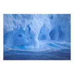 Antarctica. Iceberg with breaking waves Photo Print