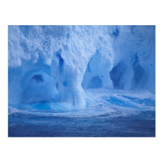 Antarctica. Iceberg with breaking waves Postcard