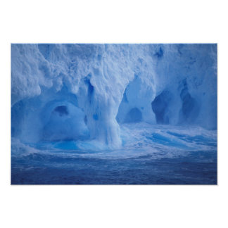 Antarctica. Iceberg with breaking waves Posters