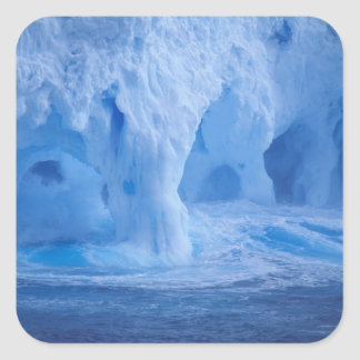 Antarctica. Iceberg with breaking waves Square Sticker