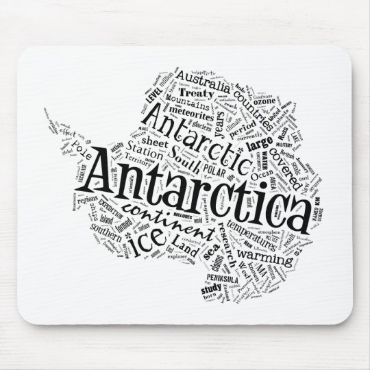 Antarctica in Tagxedo Mouse Pad