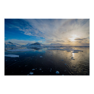 Antarctica. Near Adelaide Island. The Gullet Poster