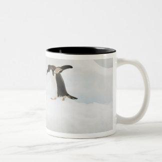 Antarctica, Neko Harbor. A gentoo penguin Two-Tone Coffee Mug