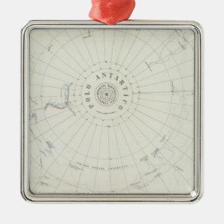 Antarctica Square Metal Christmas Ornament