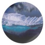 Antarctica, Paradise Bay. Iceberg in crystal Melamine Plate